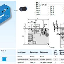 进口德国STRACK配件限位开关Z7676德国STRACK五金进口模具配件