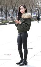街拍:皮裤美女,不是光腿,胜似光腿
