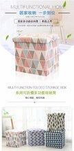 点点乐商城收纳用品印花正方形带盖折叠收纳凳收纳箱居家收纳一步到位图片