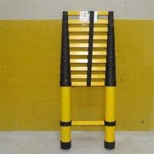 厂家供应可伸缩鱼竿梯电工玻璃钢绝缘梯子便携式竹节梯图片