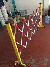 玻璃鋼管式安全圍欄絕緣伸縮護欄可移動電力安全圍欄定做圖片