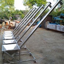 粮食装车螺旋提升机六九重工制造垂直式绞龙输送机厂家图片