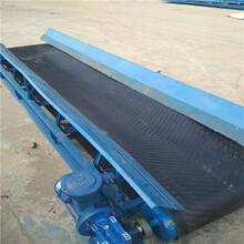 安庆挡边皮带输送机固定式爬坡化肥输送机图片