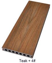 塑木二代共挤户外地板,深压纹木塑地板图片