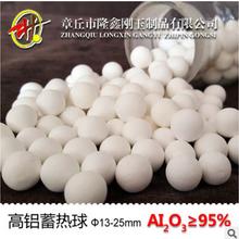 章丘厂家专业生产95%蓄热球刚玉质氧化铝陶瓷球窑炉填料耐用稳定