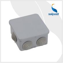 斯普威尔塑料接线盒端子接线监控电源过线盒子808040mm正方小盒子图片