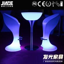 LED发光餐桌户外婚庆餐厅七彩遥控圆形餐桌户外防水LED发光家具图片