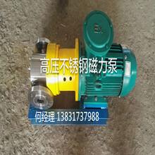泊头市龙源泵业有限公司高压不锈钢磁力泵