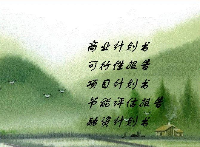 张家口代写中国好项目计划书关键还是看服务