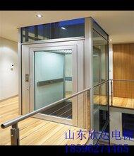 观光式别墅电梯两层家用电梯曳引式电梯框架式电梯