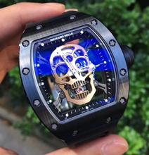 深圳买卖二手正品理查德米勒限量版镶钻/铂金/骷髅头手表