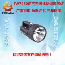 江苏利雄厂家直销IW7430疝气手提式防爆探照灯防爆强光可充电HID手提式工作灯