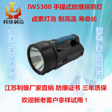 IW5300手提式防爆探照灯大功率防爆探照灯卤素疝气防爆强光工作灯