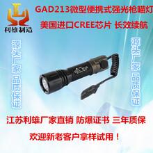 GAD213江苏利雄枪瞄灯led防爆手电筒工作灯微型便携式强光手电筒