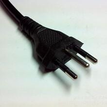 巴西三插标准电源线插头配品字尾