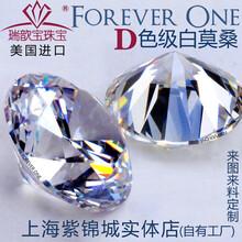 瑞歆宝美国D色莫桑裸石定制K金铂金戒指项链女现货过测钻笔