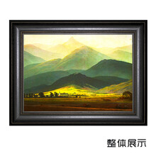 弘鼎艺术装饰画《巨人山》油画