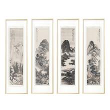 弘鼎艺术装饰画清代明俭山水国画
