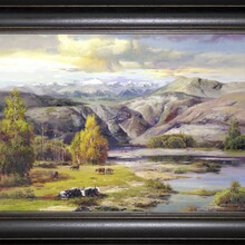 弘鼎艺术装饰画俄罗斯乡村风景油画装饰画