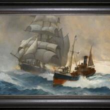 弘鼎艺术装饰画帆船油画装饰画一帆风顺