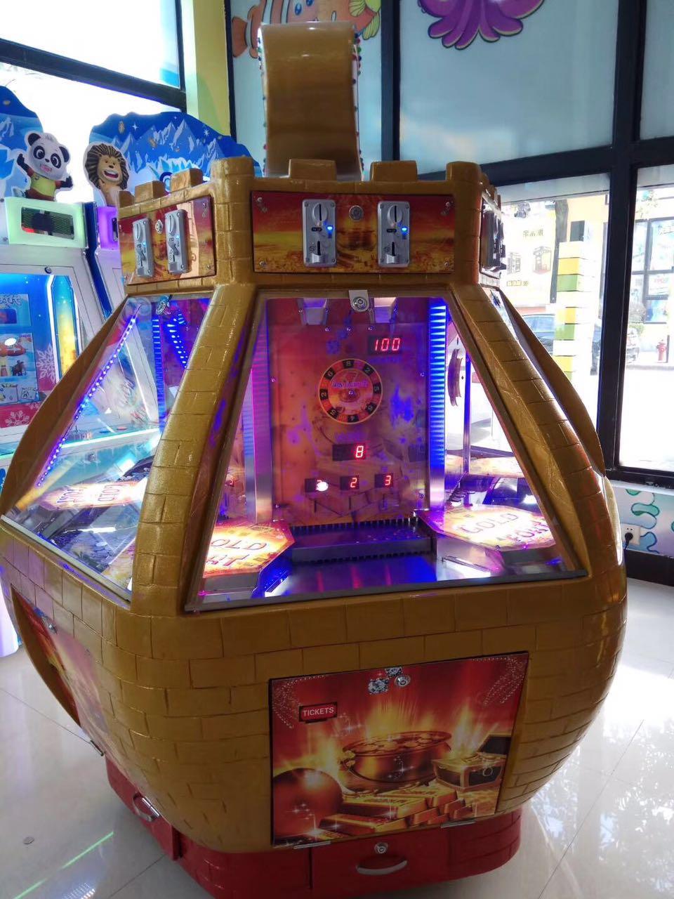 儿童乐园场地必备亲子游戏推币机黄金堡玩具厂家直销