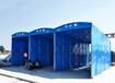 衢州戶外大型伸縮式棚貨車伸縮雨棚
