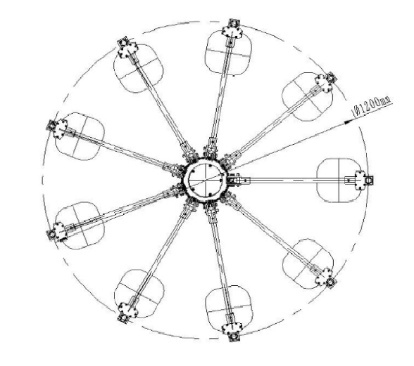 TN303超短波双信道折叠测向天线(30MHz-3GHz)