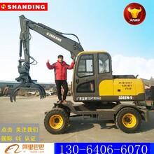 扬州造船业必备山鼎轮式挖掘机