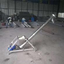 不锈钢螺旋输送机单管上料玉米粮食提升机图片