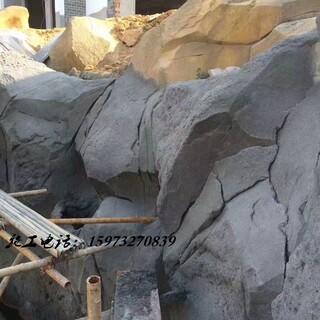 湖南贵州江西塑石假山假树大门木纹栏杆施工队伍图片6