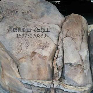 湖南贵州江西塑石假山假树大门木纹栏杆施工队伍图片5