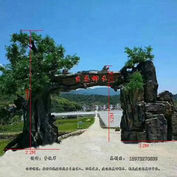 吉首塑石假山木纹栏杆树藤栏杆生态栏杆施工队伍