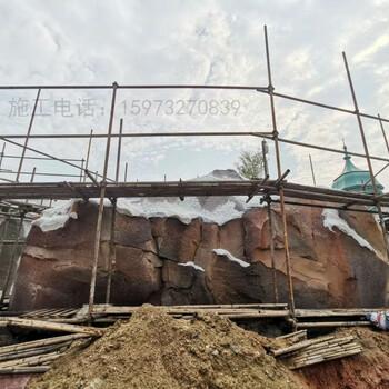 广西仿木树藤藤曼木纹生态护栏栏杆施工假山塑石施工