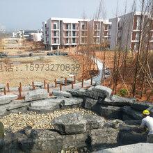 四川湖北安徽塑石假山木纹护栏栏杆施工队图片
