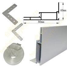 卡布灯箱铝型材磁吸灯箱铝材可折弯灯箱铝材天花灯箱铝材