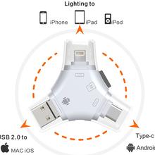手机U盘多功能读卡器多合一高速TF卡通用三通U盘IOS系统U盘