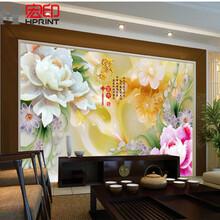 竹木纤维板集成墙板背景墙彩绘UV平板打印机多少钱?