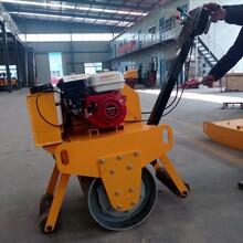 嘉兴手扶式重型单轮压路机压实土25cm