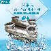 过流式紫外线消毒杀菌器20T-25T泳池水处理设备净源JY-UVC-B200
