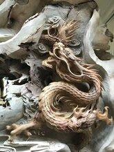 千年老香樟关公木雕图片