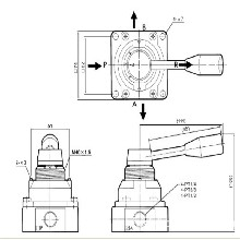 SVHC400-25亚德客型手板阀手动换向阀厂家图片