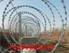 西藏那曲加工定做刀片刺繩安多縣綠色浸塑隔離護欄網