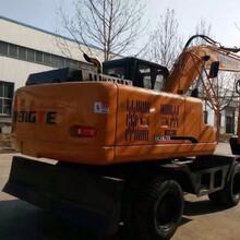 恒特轮式挖掘机135胶轮挖掘机135