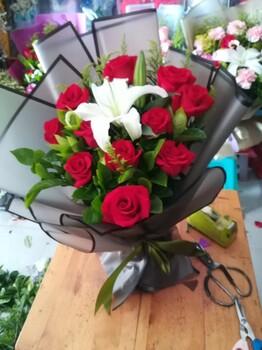 重庆永川鲜花玫瑰花束礼盒开业花篮生日蛋糕订花送花代写卡片
