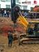 小型旋挖机在各种复杂地形如何安全行走?