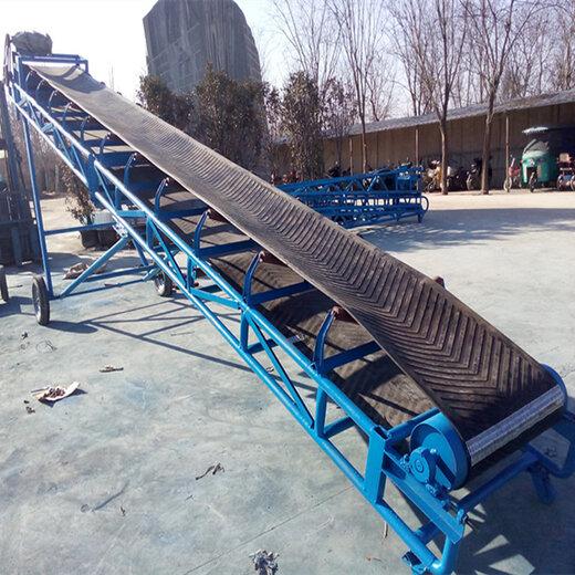 四川绵阳砂石爬坡皮带输送机专利产品