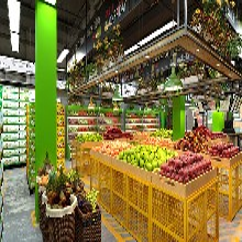 杭州名設網水果店裝修規劃教程大型商場水果店裝修設計圖片