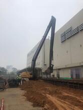 阳江20米加长臂挖机出租服务图片