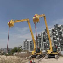 江门18米加长臂挖机出租公司图片