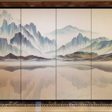 河南郑州直销艺术玻璃隔断家用屏风隔断夹丝玻璃图片